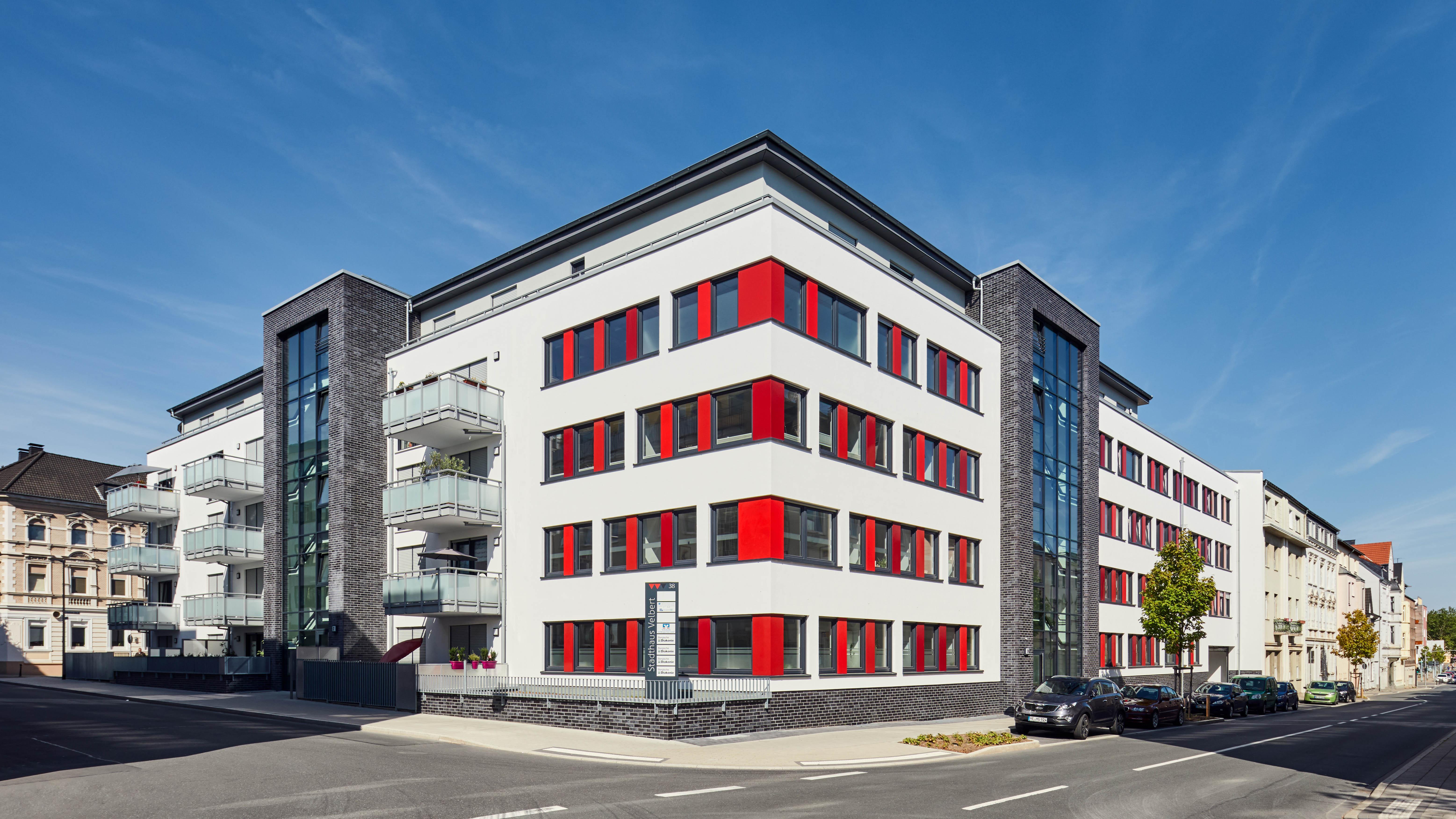 Stadthaus Velbert, Wohngebäude mit Büroflächen, Wohneinheiten
