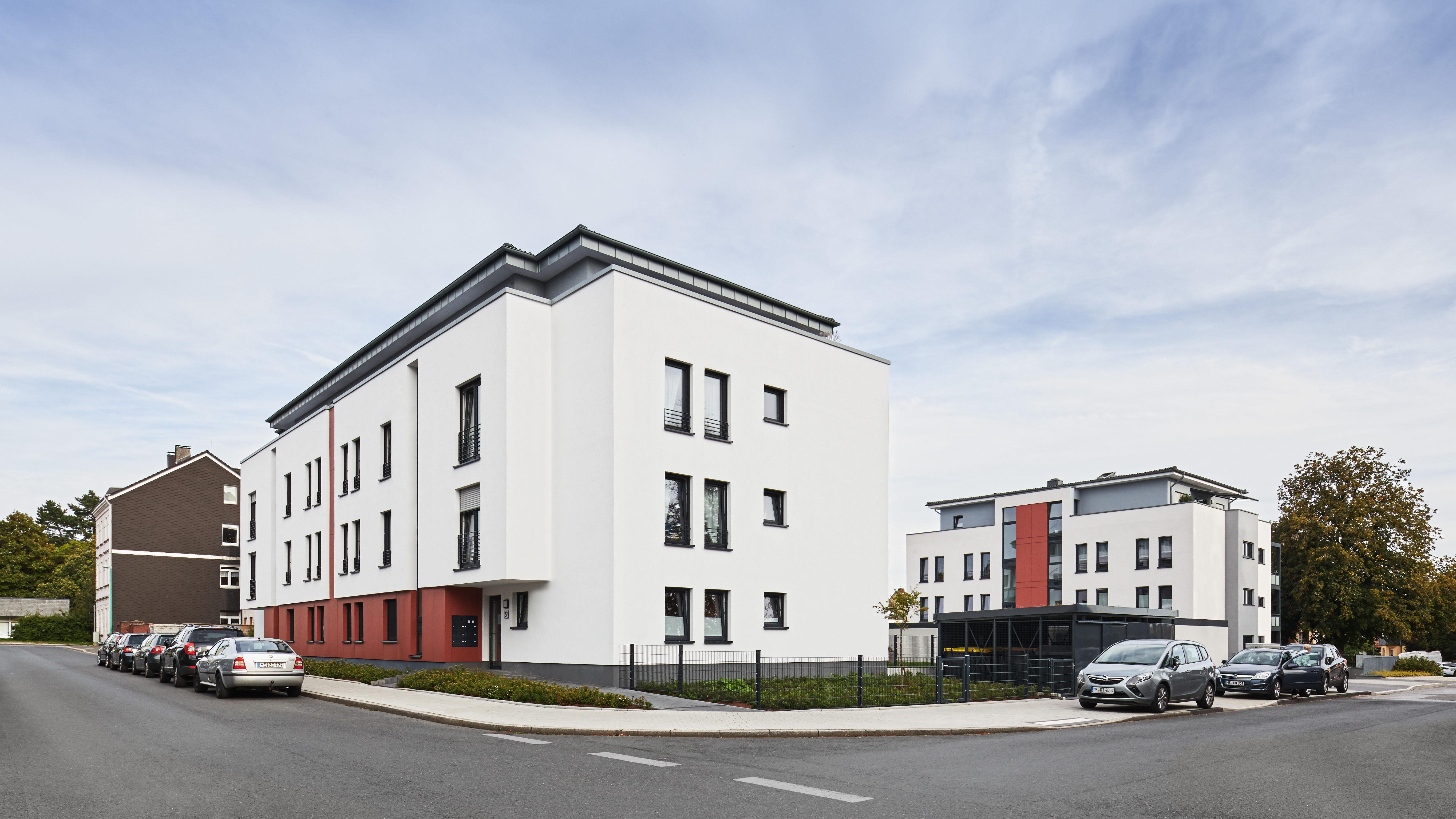 Spar- & Bauverein Velbert, Herzog Carré, Neubau eines Mehrfamilienhauses in Velbert, Architekturbüro Schönborn+ Hölscher