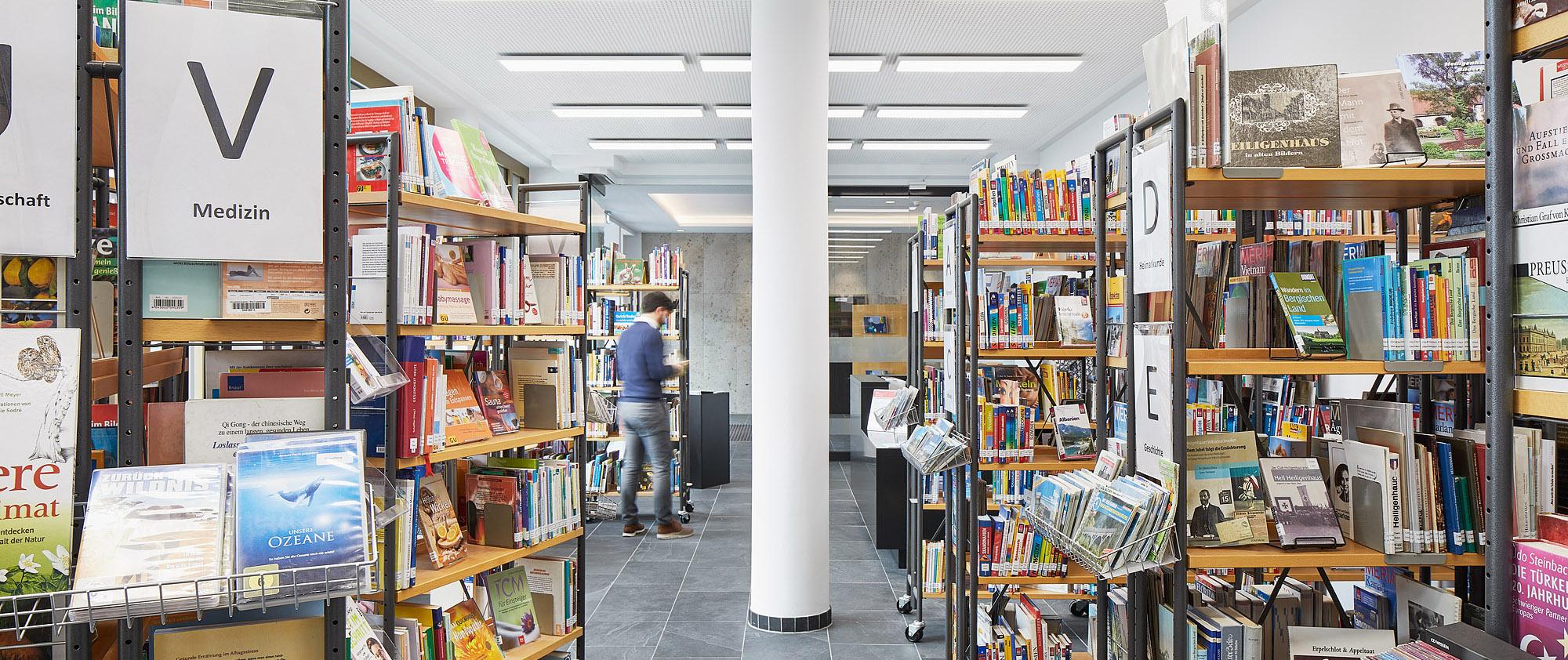 Thormählen Bildungshaus,Heiligenhaus, Stadtbibliothek Heiligenhaus. Architekturbüro Schönborn+ Hölscher
